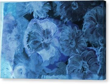 Blue Muted Memories Canvas Print by Anne-Elizabeth Whiteway