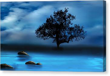 Blue Night Canvas Print by Katy Breen