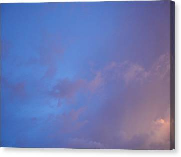 Canvas Print featuring the photograph Blue Pink Sky by Alexandra Masson