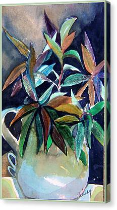 Blue Pitcher Canvas Print by Mindy Newman