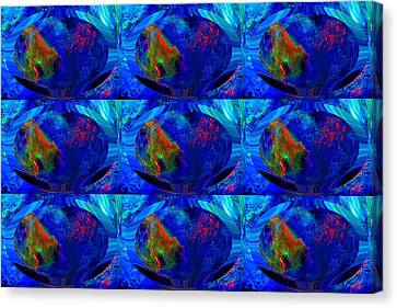 Blue Planet - Tiled Canvas Print by Colleen Cannon