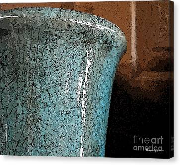 Blue Pottery Canvas Print