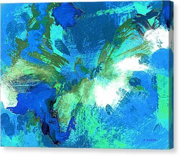 Blue Resonance Canvas Print by Charles Yates