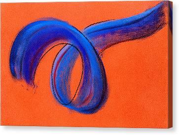 Blue Ribbon Canvas Print by Hakon Soreide