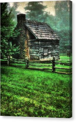 Blue Ridge Cabin Canvas Print by Darren Fisher