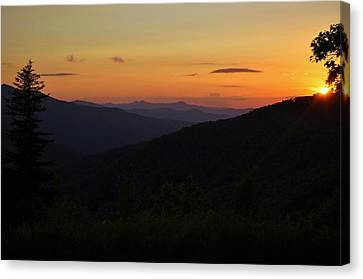 Blue Ridge Mountain Sunset Canvas Print by Jeff Moose