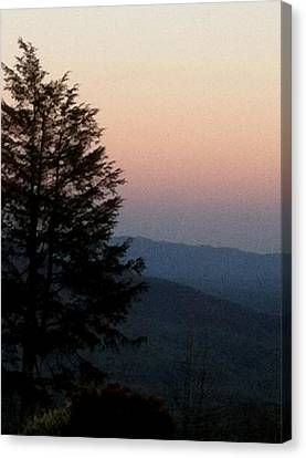 Canvas Print featuring the photograph Blue Ridge Mountains by Elizabeth Coats
