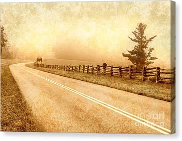 Blue Ridge Parkway At Northwest Trading Post II Canvas Print by Dan Carmichael