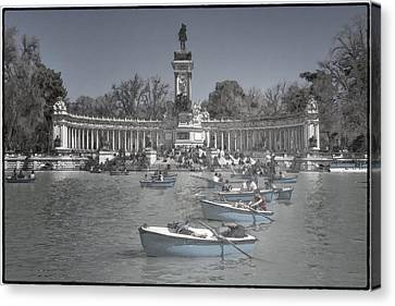 Blue Rowboats Canvas Print