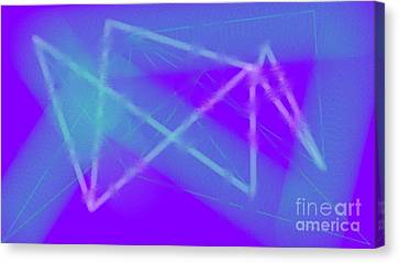 Blue Canvas Print by Rosana Ortiz
