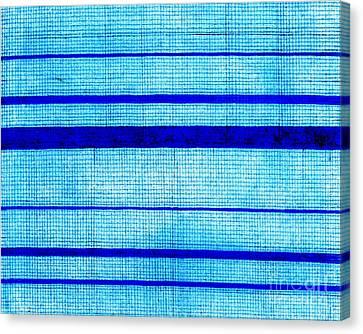 Blue Sha Gauze Weave With Stripes Print 1825 Canvas Print by Padre Art