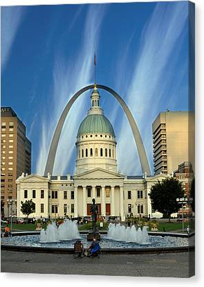 Blue Skies Over St. Louis Canvas Print by Marty Koch