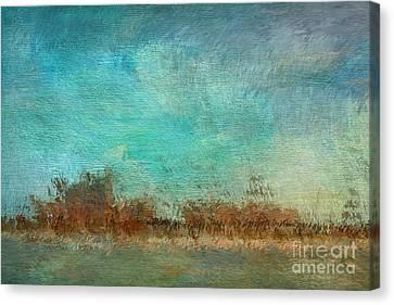 Impressionist Canvas Print - Blue Sky And Beach by Deborah Benoit