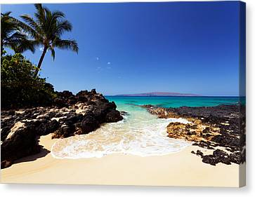 Blue Sky At Secret Beach Makena Canvas Print