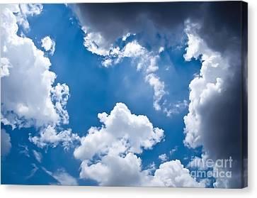 Blue Sky Canvas Print by Gaurishankar Khatri