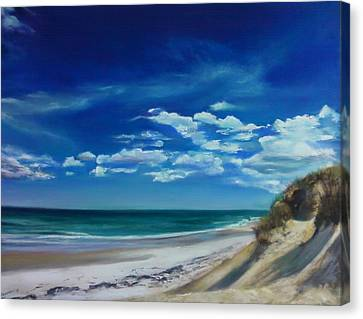 Blue Sky Walk Canvas Print by Laura Balboni Craciun