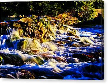 Rapids Canvas Print - Blue Squall by Joshua Dwyer
