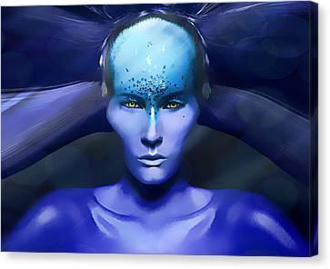Blue Star Canvas Print by Yosi Cupano