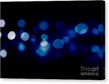 Merry -go- Round Canvas Print - Blue Starburst Lights by Simon Bratt Photography LRPS