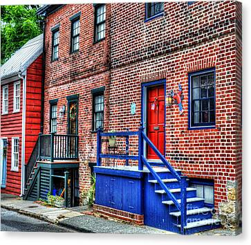 Blue Steps Canvas Print by Debbi Granruth