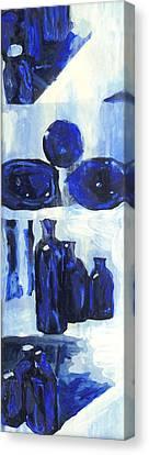 Blue Still Life Canvas Print by Hatin Josee