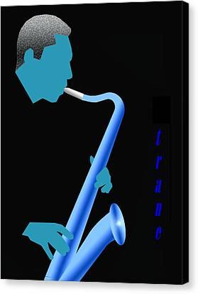 Blue Trane Canvas Print by Victor Bailey