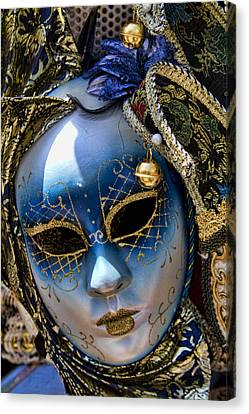 Blue Venetian Mask Canvas Print by David Smith