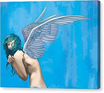 Blue Canvas Print by Vincent Danks