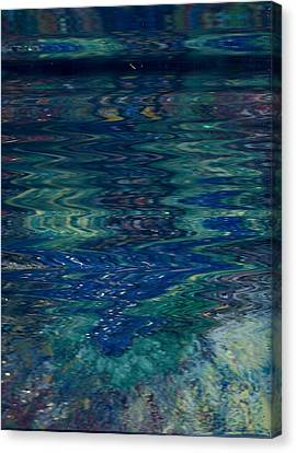 Blue Wake Canvas Print by Anne-Elizabeth Whiteway