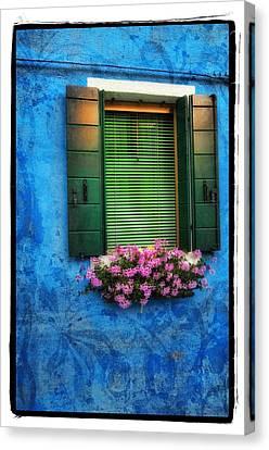 Blue Wall Canvas Print by Mauro Celotti