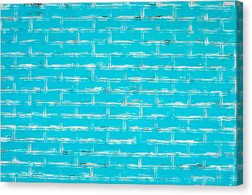 Blue Wall Canvas Print by Tom Gowanlock