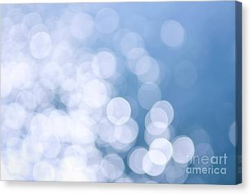 Blue Water And Sunshine Abstract Canvas Print