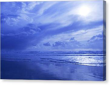 Blue Waterscape Canvas Print by Christine Mariner