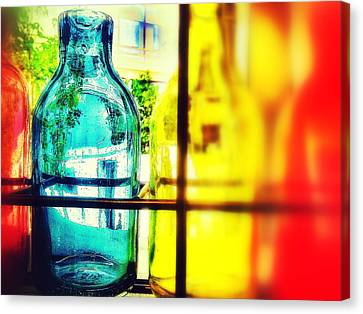 Blue Yellow And Red Canvas Print by Olivier Calas