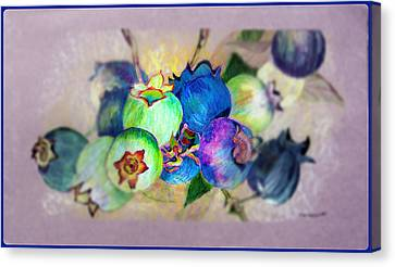 Blueberries Prime Time Canvas Print by Mindy Newman