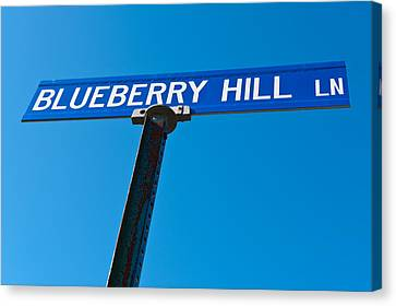 Blueberry Hill Sign Canvas Print by Steve Gadomski