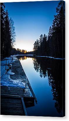 Canvas Print featuring the photograph Blueness by Matti Ollikainen
