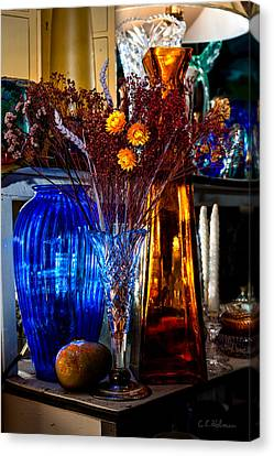 Blues And Ambers Canvas Print by Christopher Holmes