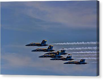 Canvas Print featuring the photograph Blues by David Gleeson