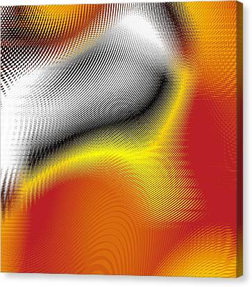 Canvas Print featuring the digital art Blurred by Jeff Iverson