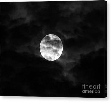 Blustery Blue Moon Canvas Print