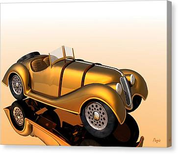 Canvas Print featuring the digital art Bmw Roadster by John Pangia