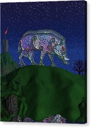 Boar King Canvas Print by Diana Morningstar