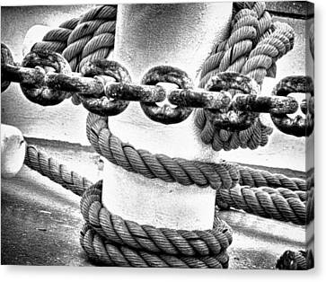 Canvas Print featuring the photograph Boat Chain by Kelly Reber