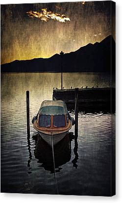 Boat During Sunset Canvas Print by Joana Kruse