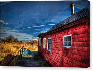 Boat House Canvas Print by Michael Petrizzo