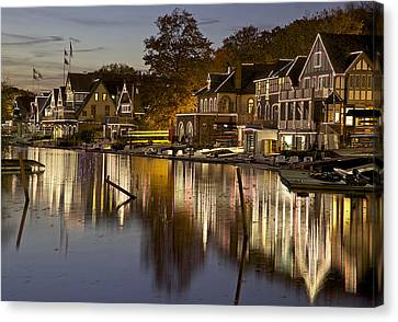 Boat House Row Canvas Print by Yaz Allen