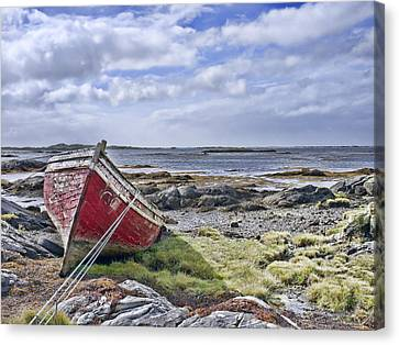 Canvas Print featuring the photograph Boat by Hugh Smith