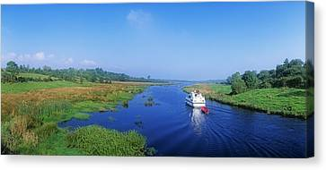 Boat In The River, Shannon-erne Canvas Print