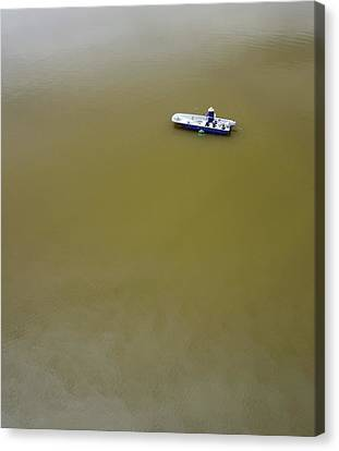 Boat In Water Canvas Print by Bjorn Svensson
